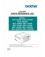 Brother Laser-MFC J280 J425 J430 J435 J625 J825 J835 W-DW DCPJ525 J725 J925 W-DW Service Manual