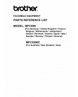 Brother MFC 890 5200C Parts Reference