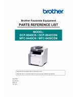Brother MFC 9440CN 9450CDN DCP9040CN 9042CND Parts Reference