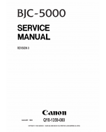 Canon BubbleJet BJC-5000 Service Manual