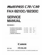 Canon MultiPASS MP-C70 C80 Service Manual