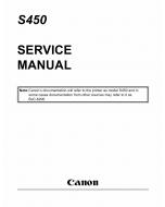 Canon PIXUS S450 Service Manual