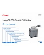 Canon imagePRESS C800 C700 Service Manual