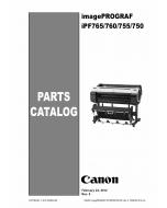 Canon imagePROGRAF iPF-765 760 755 750 Parts Catalog Manual