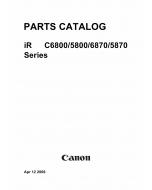 Canon imageRUNNER-iR C6800 C5800 C CN Parts Catalog