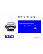 EPSON StylusPro 4450 4880 4880C Parts Manual