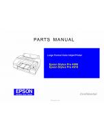 EPSON StylusPro 4900 4910 Parts Manual