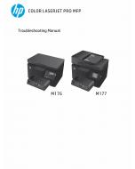 HP ColorLaserJet Pro-MFP M176 M176n M177 M177fw Troubleshooting Manual PDF download