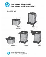 HP LaserJet Enterprise-Color M651 M680-MFP Parts and Repair Manual PDF download