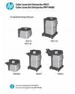 HP LaserJet Enterprise-Color M651 M680-MFP Troubleshooting Manual PDF download