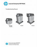 HP LaserJet Enterprise M630 Troubleshooting Manual PDF download