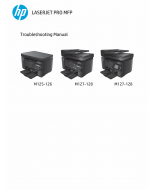 HP LaserJet Pro-MFP M125 M126 M127 M128 Troubleshooting Manual PDF download