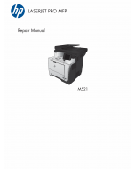 HP LaserJet Pro-MFP M521 dn dw Parts and Repair Guide PDF download