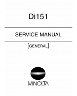 Konica-Minolta MINOLTA Di151 GENERAL Service Manual