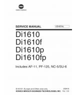 Konica-Minolta MINOLTA Di1610 Di1610f Di1610p Di1610fp GENERAL Service Manual