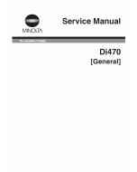 Konica-Minolta MINOLTA Di470 GENERAL Service Manual
