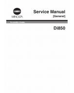 Konica-Minolta MINOLTA Di850 GENERAL Service Manual