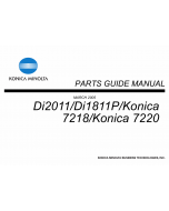 Konica-Minolta Options Di2011 Di1811P 7218 7220 Parts Manual