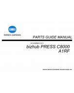 Konica-Minolta bizhub-PRESS C8000 Parts Manual