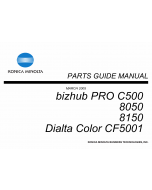 Konica-Minolta bizhub-PRO C500 8050 8150 Parts Manual