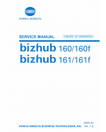 Konica-Minolta bizhub 160 160f 161 161f THEORY-OPERATION Service Manual