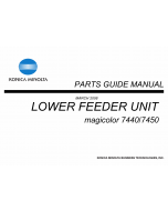 Konica-Minolta magicolor 7450 7440 Lower-Feed-Unit Parts Manual