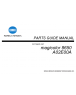 Konica-Minolta magicolor 8650 Parts Manual
