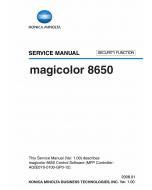 Konica-Minolta magicolor 8650 SECURITY-FUNCTION Service Manual