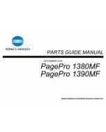 Konica-Minolta pagepro 1380MF 1390MF Parts Manual