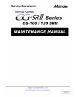 MIMAKI CG SRII 100 130 MAINTENANCE Service Manual