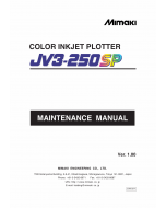 MIMAKI JV3 250SP MAINTENANCE Service Manual