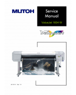MUTOH ValueJet VJ 1604W W1 W2 Service and Parts Manual