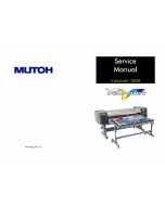 MUTOH ValueJet VJ 1608H HE MAINTENANCE Service and Parts Manual