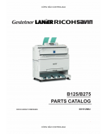 RICOH Aficio 240W B125 B275 Parts Catalog