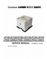 RICOH Aficio AP-610N AP410N AP410 G112 G113 G116 Parts Service Manual