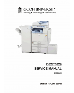 RICOH Aficio C4000 C5000 D027 D029 Service Manual
