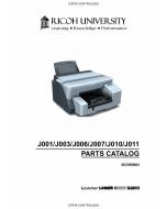 RICOH Aficio G-500 G700 GX3000 GX3050N J001 J003 J006 J007 J010 J011 Parts Catalog