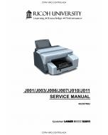 RICOH Aficio G-500 G700 GX3000 GX3050N J001 J003 J006 J007 J010 J011 Service Manual