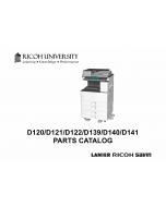 RICOH Aficio MP-2352SP 2852 3352 D120 D121 D122 D139 D140 D141 Parts Catalog