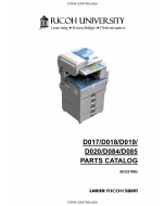 RICOH Aficio MP-2550B 2550SP 3350B 3350SP 2851SP 3351SP D017 D018 D019 D020 D084 D085 Parts Catalog
