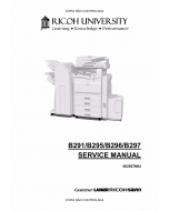 RICOH Aficio MP-3500g 4500g 3500 4500 B291 B295 B296 B297 Service Manual