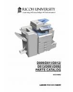 RICOH Aficio MP-4000 4001SP 40001G 5000 5001SP 5001G D009 D011 D012 D013 D091 D092 Parts Catalog