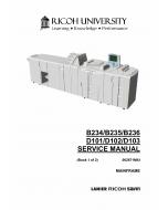 RICOH Aficio MP-9000 1110 1350 906EX 1106EX 1356EX B234 B235 B236 D101 D102 D103 Service Manual