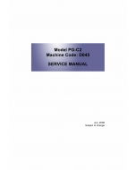 RICOH Aficio MP-C1800 D045 Service Manual