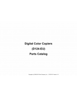 RICOH Aficio MP-CW2200SP D124 Parts Catalog
