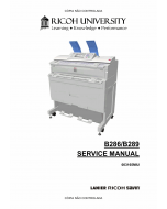 RICOH Aficio MP-W2400 W3600 B286 B289 Service Manual