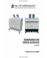 RICOH Aficio MP-W2400 W3600 SP-W2470 B286 B289 G180 Parts Catalog
