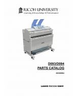RICOH Aficio MP-W2401 W3601 D093 D094 Parts Catalog