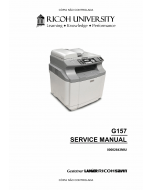 RICOH Aficio SP-C210SF G157 Service Manual