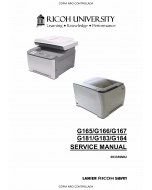 RICOH Aficio SP-C220N C221N C222DN C220S C221SF C222SF G165 G166 G167 G181 G183 G184 Service Manual
